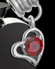 Stainless Steel January Enamored Heart Cremation Keepsake