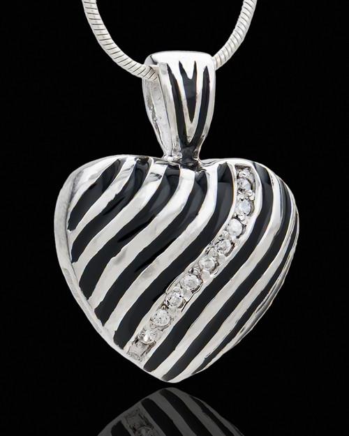 Sterling Silver Saving Grace Heart Cremation Urn Pendant
