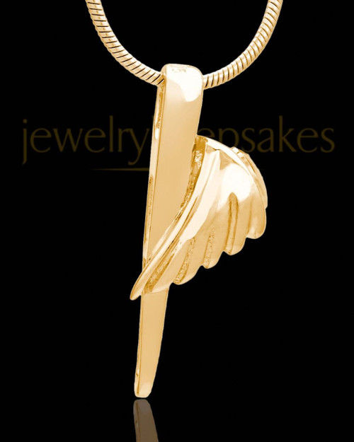 Grace Cremation Urn Pendant Gold Plated