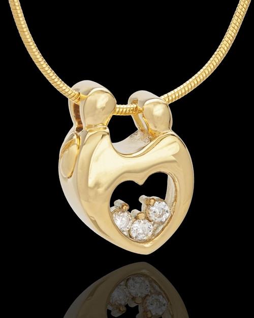 Gold Plated Connections Cremation Urn Pendant