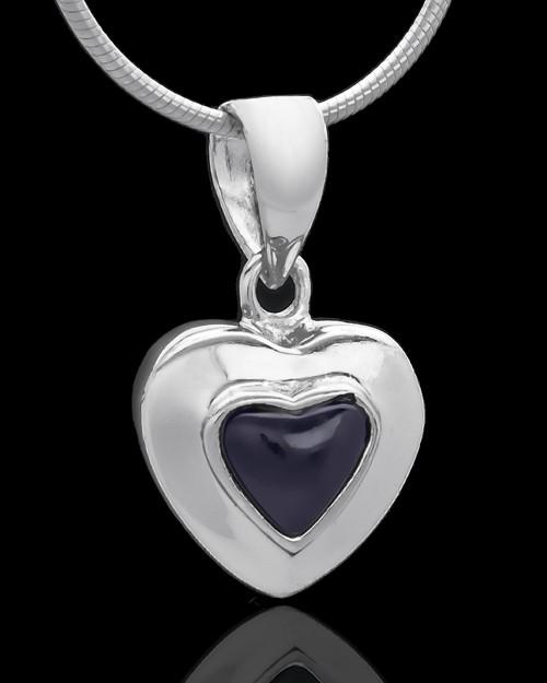Silver Plated Evening Heart Keepsake Jewelry