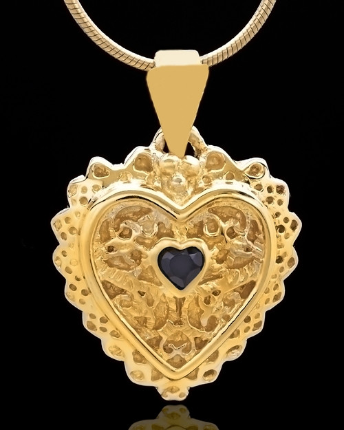 Gold Plated Garland Heart Keepsake Jewelry