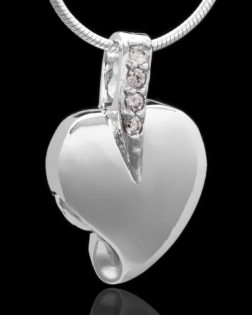 Sterling Silver Weeping Heart Keepsake Jewelry