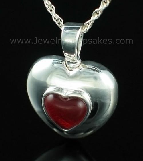 Keepsake Pendant Sterling Silver January Heart