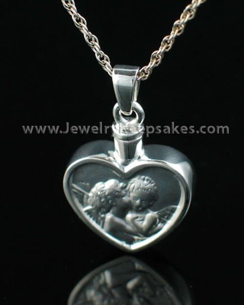 sterling silver true cremation urn pendants by