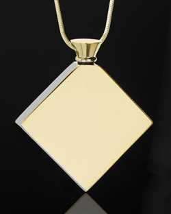 gold plated necklace for ashes