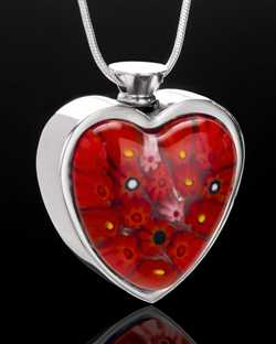 red necklaces for ashes