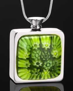 square shaped necklaces to hold ashes