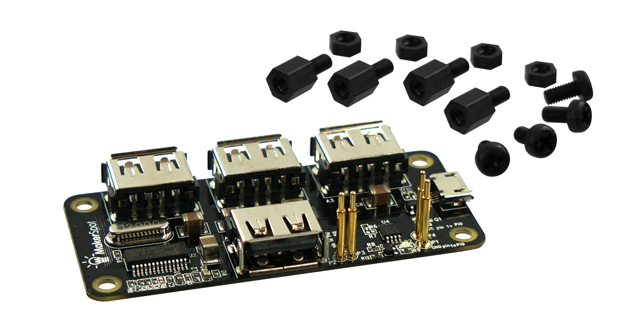 2nd Gen Stackable Usb Hub For Raspberry Pi Zero 3rd Gen
