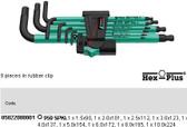 05022088001 WERA 950SPKL/9SM N 9PC HEX PLUS KEY SET METRIC