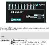 05056162001 WERA 8100-9 PH/TZ 9PC BIT CHECK