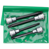 96031301 Stahlwille 1054TX/4 Piece 1/2 Drive Long Torx Set