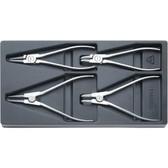 96838122 Stahlwille NR.6543-6546 Chrome Plier Set