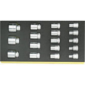 96838177 Stahlwille TCS 17 Piece 1/2 Drive Socket Set