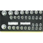 96838191 Stahlwille TCS 50;51;52 1/2 Drive Socket Set
