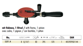RS50114 SCHRODER 50114 HAND DRILL W/FRAME 5/16 chuck