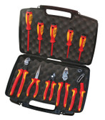 9K 98 98 31 US Knipex 10 PC. PLIERS/SCREWDRIVER TOOL SET-1,000V, HARD CASE