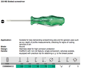 05008004002 WERA 335 MS slotted screwdriver with clip