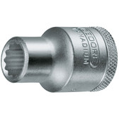 """Gedore 6133550 Socket 1/2"""" 13 mm D 19 13"""
