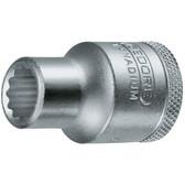 """Gedore 6134280 Socket 1/2"""" 18 mm D 19 18"""
