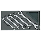 Gedore 1731157 Set of open flare nut spanners in 1/3 ES tool module 1500 ES-400