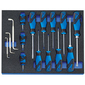 Gedore 2016311 Screwdriver set in 2/4 CT tool module, 15 pieces 2005 CT2-2160