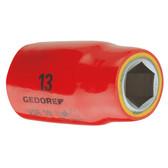 """Gedore 6122860 VDE Socket 1/2"""" 12 mm VDE 19 12"""