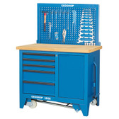 Gedore 6621860 Mobile workbench with vice 1505 S
