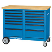 Gedore 2528096 Mobile workbench, 1.25 m wide, with 18 drawers 1506 XL 2810