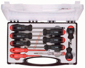 32558 FELO Slotted, Phillips, & Pozidriv 11 Pc Insulated Screwdriver Set