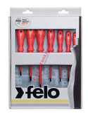 51401 FELO Phillips & Slotted 7 Pc Insulated Screwdriver Set