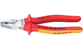 02 08 225  Knipex 9 inch HIGH LEVERAGE COMBINATION PLIERS - 1,000V *NEW updated handles*