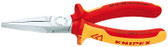30 16 160 Knipex 6.25 inch LONG NOSE PLIERS - FLAT TIPS - 1,000V