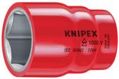 "98 47 10  Knipex Hexagon Socket - 1/2"" Drive"