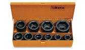BETA 007280910 728 /C10-10 IMPACT SOCKETS IN CASE 728 /C10