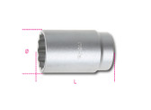 BETA 009690136 969 B36-HUB NUT LOCKING SOCKETS 969 B36