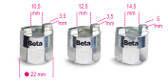 BETA 015570010 1557 /S3-SOCKETS FOR SHOCK ABSORBER NUTS 1557 /S3