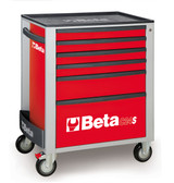 BETA 024002063 C24S 6/R-MOBILE ROLLER CAB 6 DRAWERS RED C24S 6/R