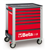 BETA 024002073 C24S 7/R-MOBILE ROLLER CAB 7 DRAWERS RED C24S 7/R