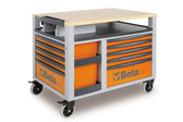 BETA 028000301 C28 O-SUPERTANK TROLLEY 10 DRAW. ORANGE