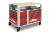 BETA 028000303 C28 R-SUPERTANK TROLLEY 10 DRAWERS RED