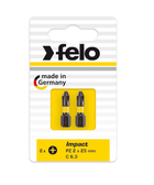 "FELO 62995 Phillips 1 x 1"" Impact Bit *NEW* - 2 per pkg"