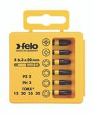 "FELO 63067 Profi Bit Box 6 Pozi Bits x 2"" - T10 / T15 / T20 / T25 / T30 / T40 *NEW*"