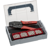 NWS 338-20 (621) Crimp Lever Pliers and End-Sleeves Assortment in Sortimo L-BOXX Mini