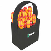 WERA 05004310001 2go 1000 VDE Insulated Screwdriver Set with Tool Quiver