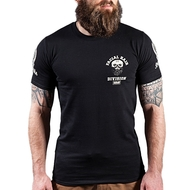 Scramble Strong Beard Mens T Shirt Black