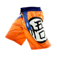 Razorstorm The Saiyan Mens MMA Fight Shorts Orange