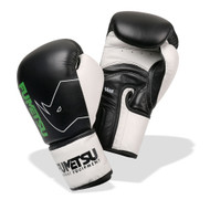 Fumetsu Leather Sparring Adult Boxing Gloves Black/White