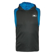 Bad Boy Fitness Sleeveless Mens Hoodie Grey/Blue