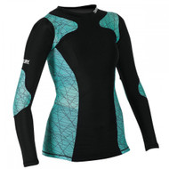 Century Performance Ladies Rash Guard Black/Green